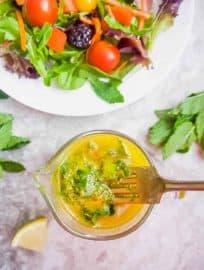 Zesty Lemon Mint Turmeric Dressing (Paleo, GF) | Perchance to Cook, www.perchancetocook.com