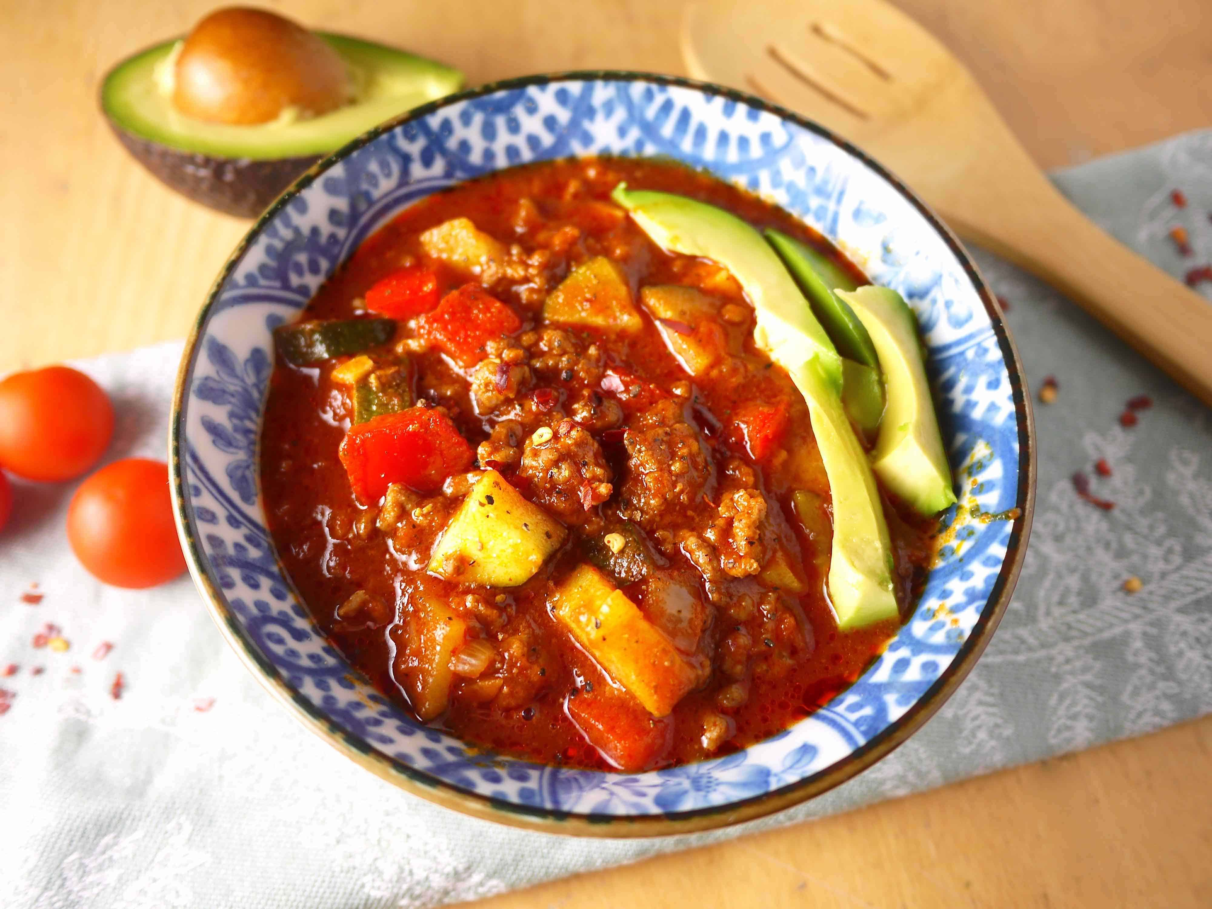 Quick and Tasty Paleo Chili (gf)  Perchance to Cook, www.perchancetocook.com