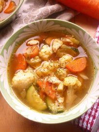 Paleo Chicken and Leek Soup (GF) will warm you right up!   Perchance to Cook, www.perchancetocook.com