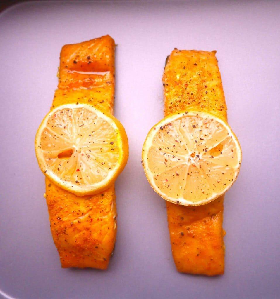Sweet Lemonpepper Turmeric Salmon (paleo, Gf)  Perchance To Cook,