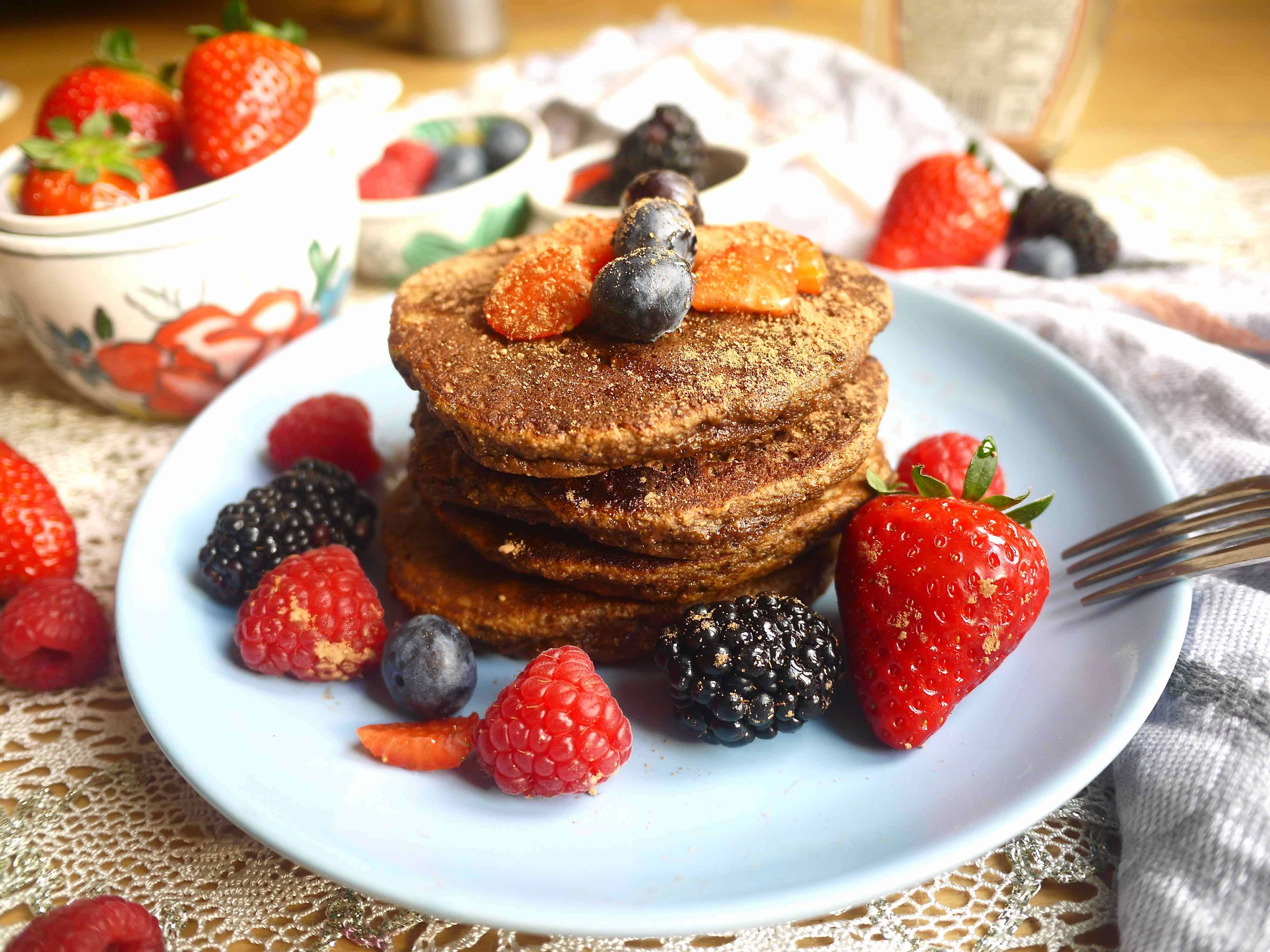 Treat your taste buds and your body to these Chocolatey Cocoa Paleo Pancakes (GF)   Perchance to Cook, www.perchancetocook.com