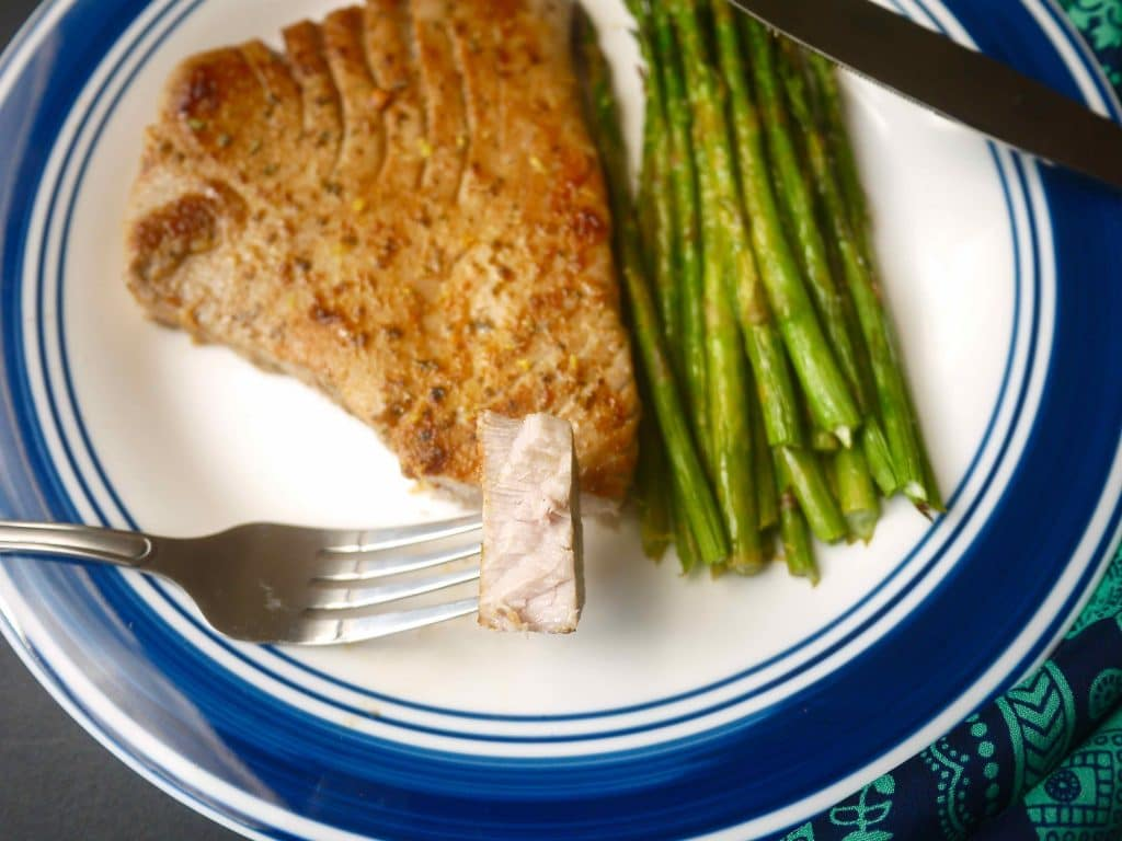 My Kind Of Steak! Grilled Lemon Tuna Steak And Asparagus (paleo, Gf)