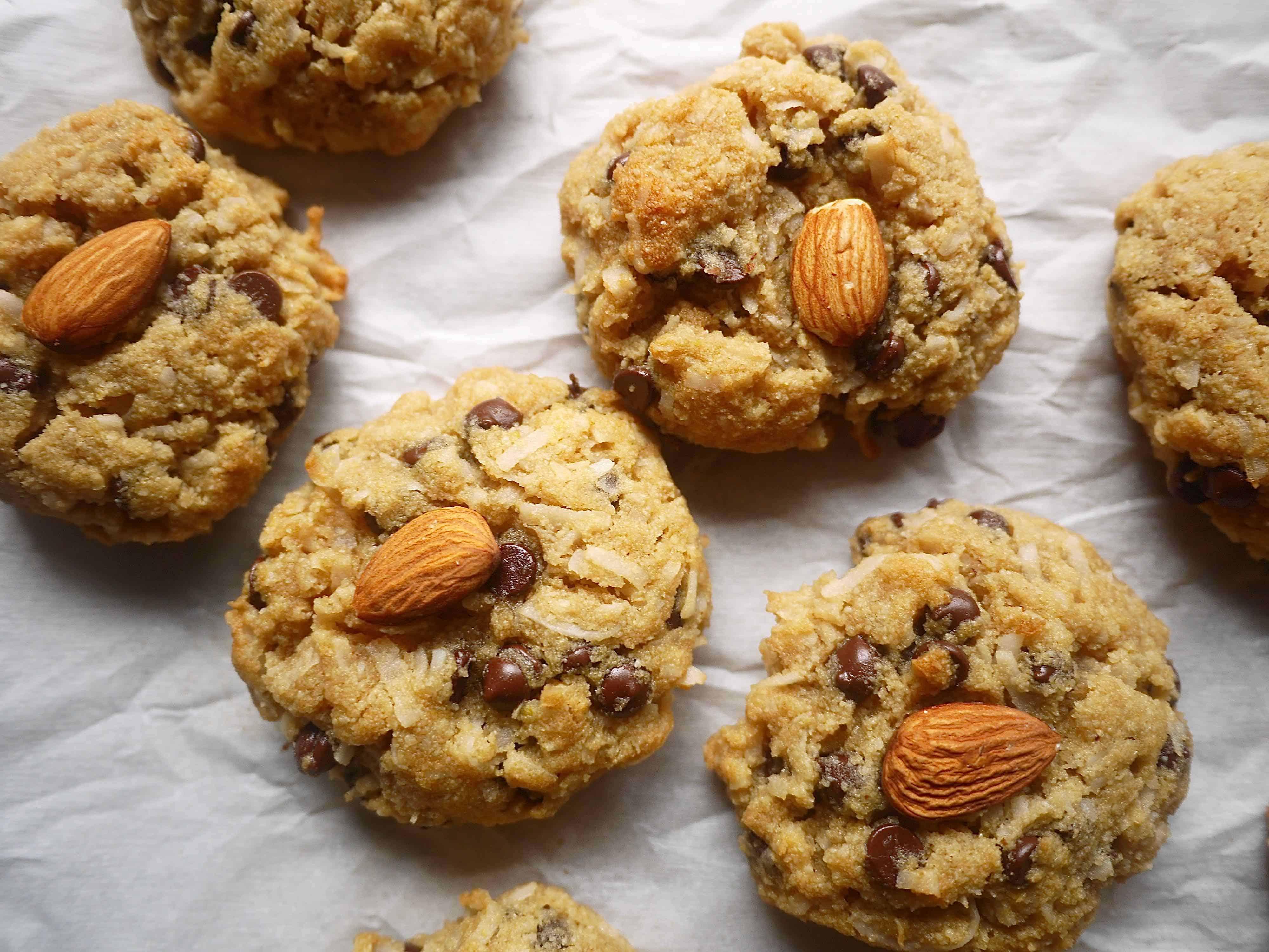 Paleo Almond Joy Cookies (GF)  Perchance to Cook, www.perchancetocook.com