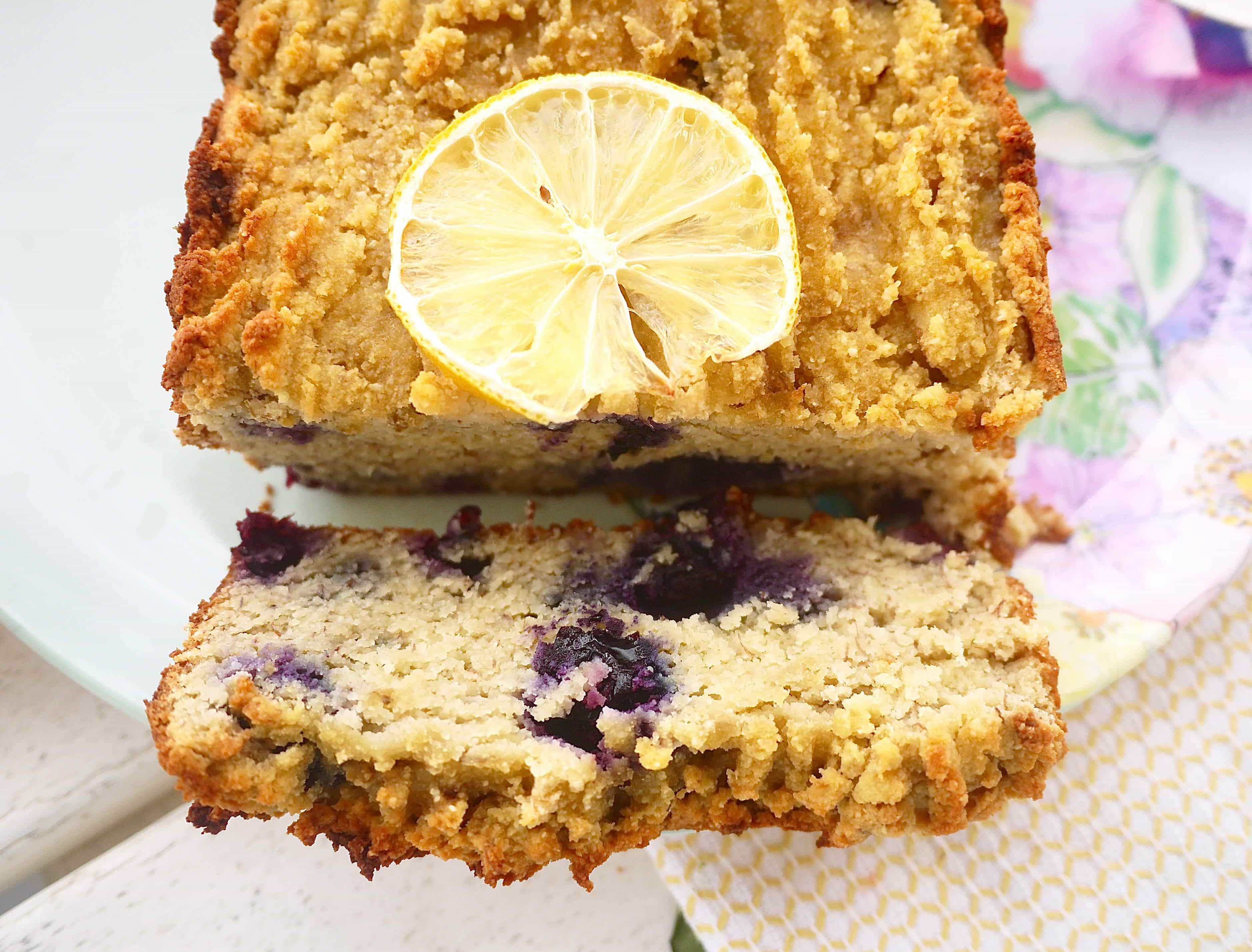 Paleo Lemon Blueberry Banana Bread (GF)...Clean eating at it's most delicious! |Perchance To Cook, www.perchancetocook.com