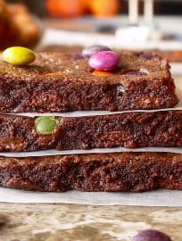 Paleo Skinny Brownies (GF)- healthier and lower in calorie than your average brownie! |Perchance to Cook, www.perchancetocook.com