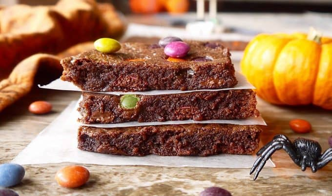 Paleo Skinny Brownies (GF)- healthier and lower in calorie than your average brownie!  Perchance to Cook, www.perchancetocook.com