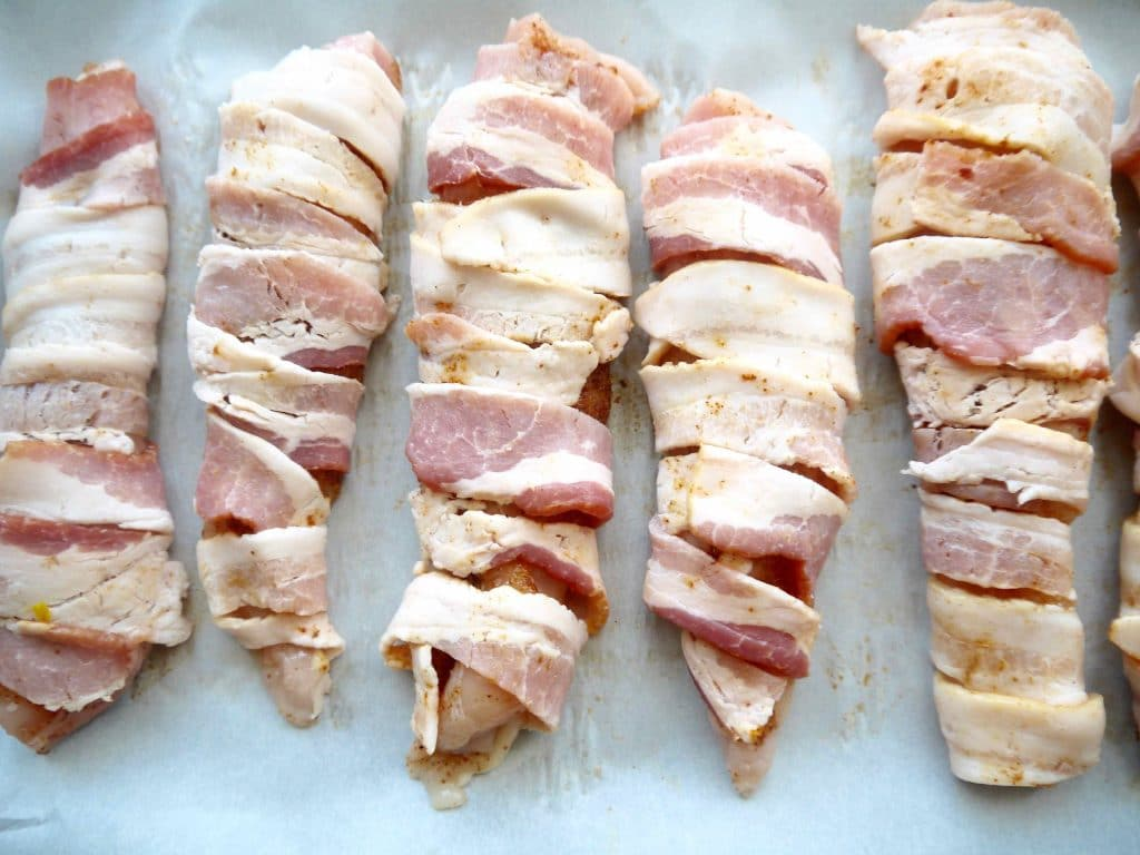 Bacon Wrapped Chicken Tenders (paleo, GF) | Perchance to Cook