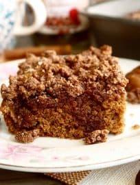 Paleo Chestnut Flour Coffee Cake | Perchance to Cook, www.perchancetocook.com