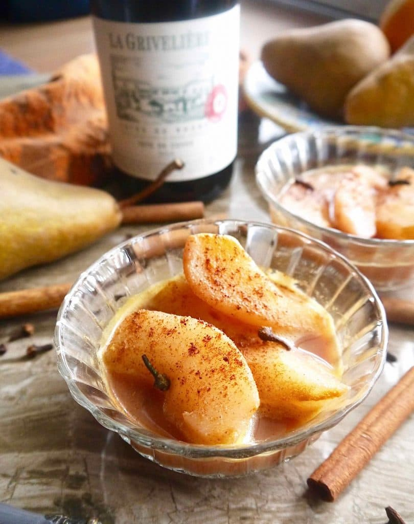 Paleo comfort foods 39 poached pears recipe dishmaps for Wine and orange juice name