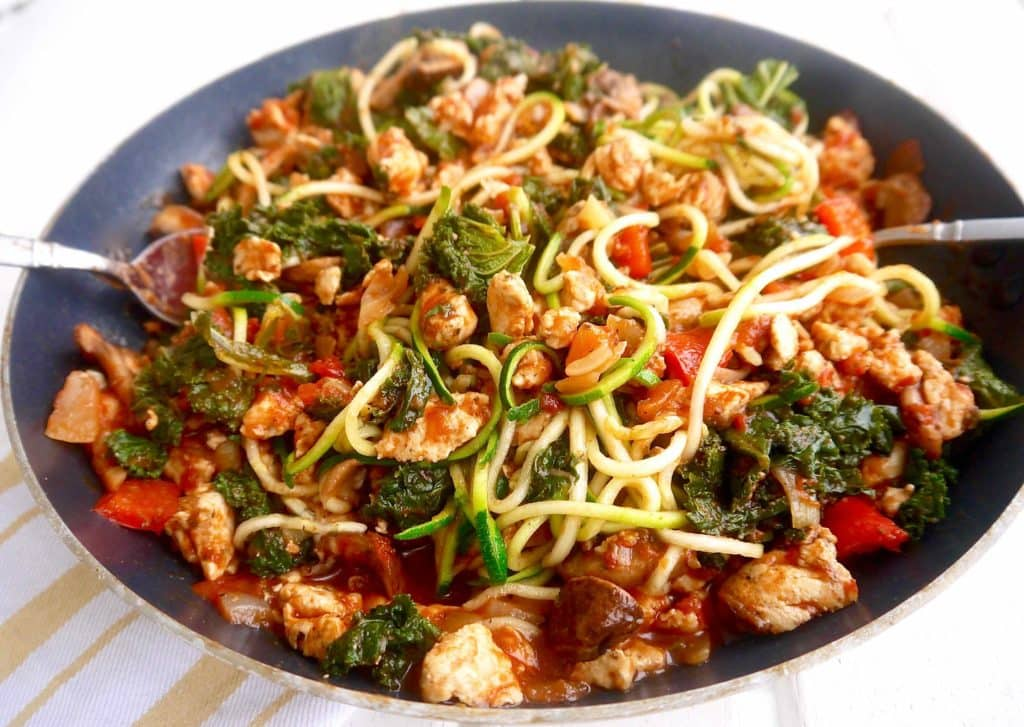 Recipe with ground chicken and mushrooms
