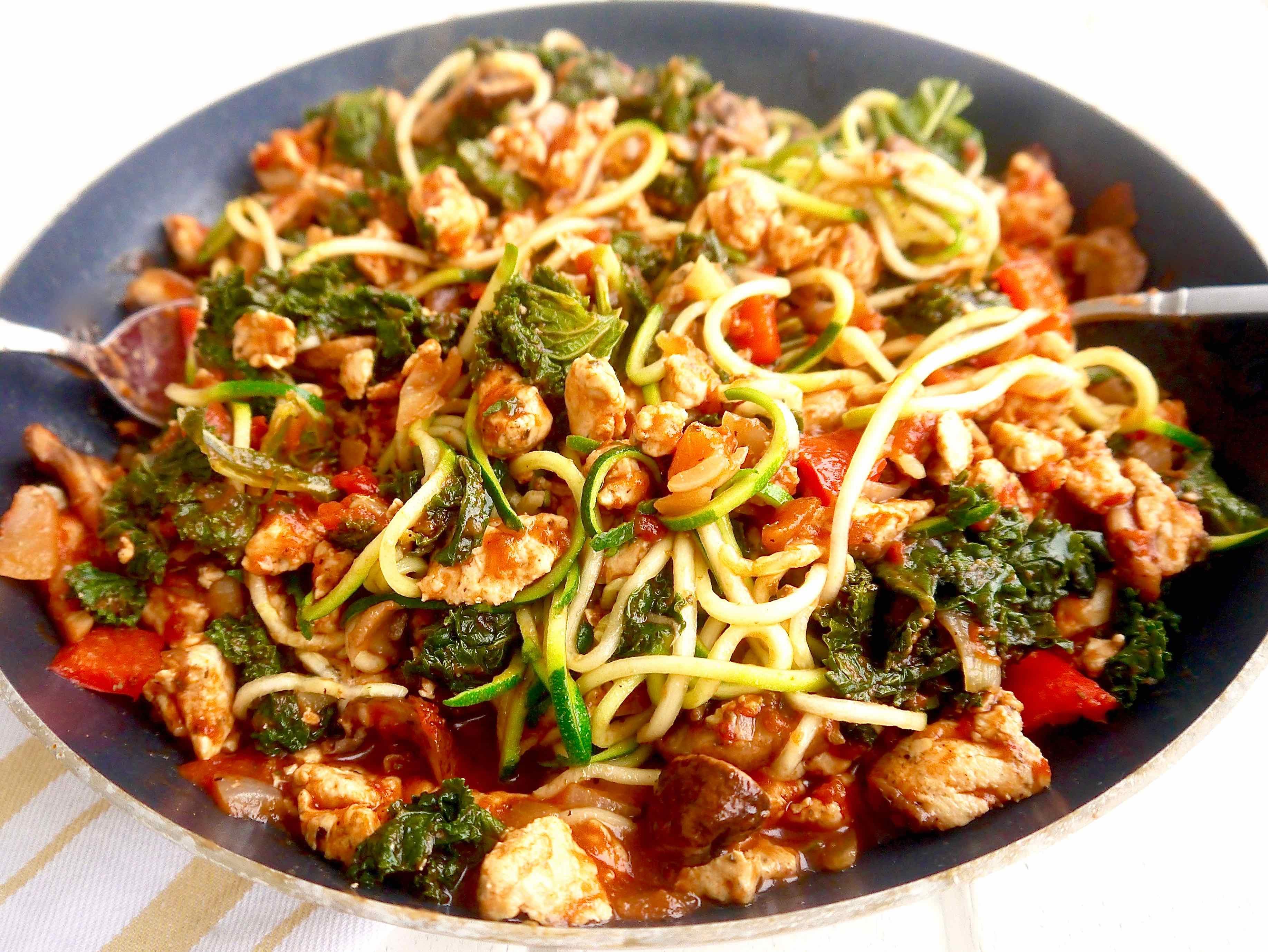 Paleo-Mushroom- Kale-Spiced-Ground-Chicken-Tomato-Sauce-perchancetocook www.perchancetocook.jpg