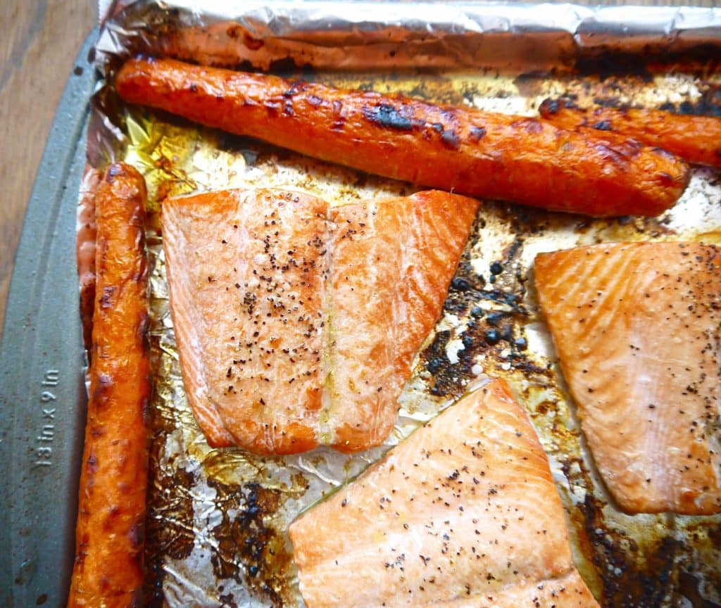 Broiled Salmon With Apple Cranberrypote (paleo, Gf)  Perchance To Cook