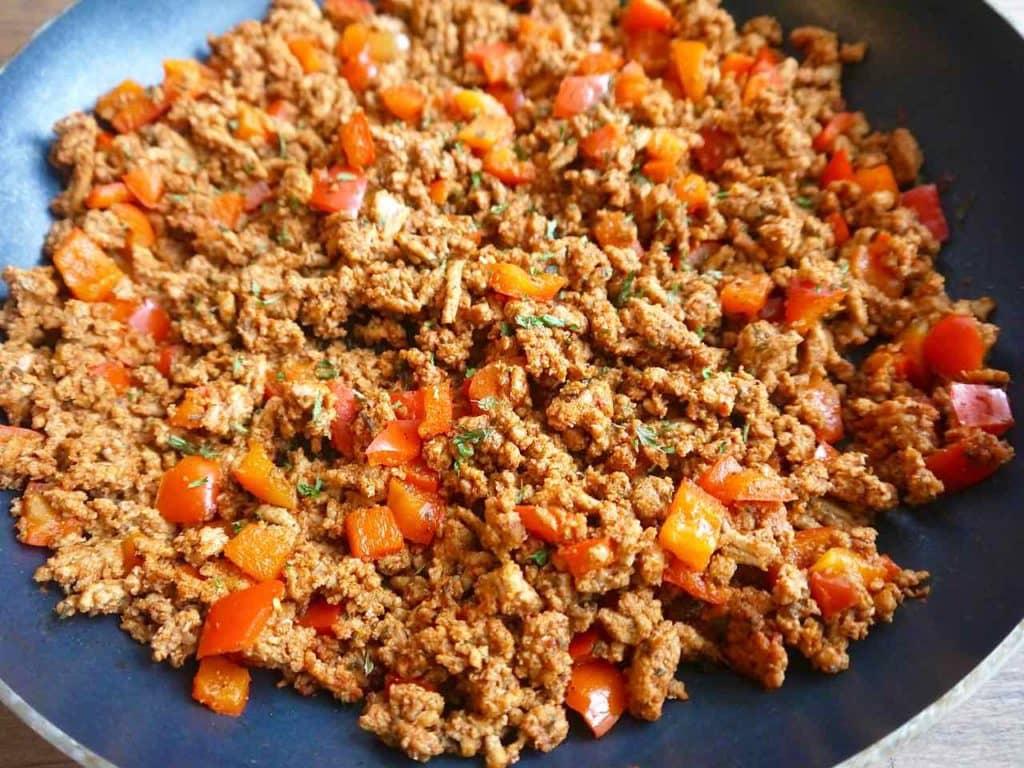 Paleo Ground Turkey Taco Zoodles (GF)   Perchance to Cook, www.perchancetocook.com
