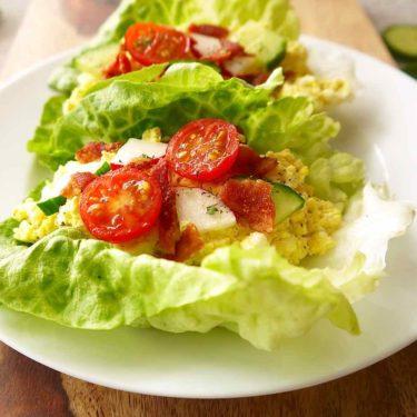 Egg Salad Lettuce Wraps (Paleo, GF) | Perchance to Cook, www.perchancetocook.com