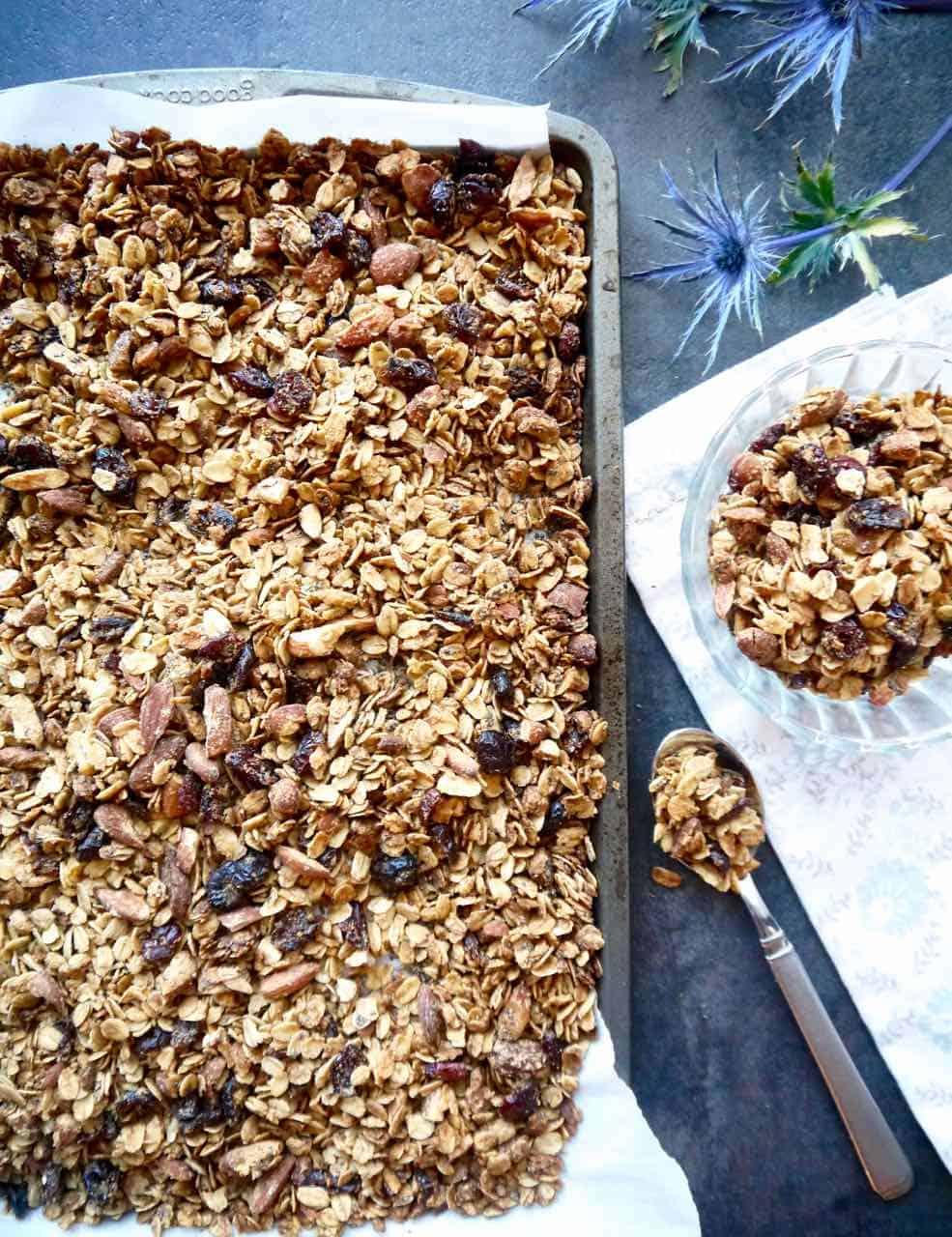 Gluten-free Chia-Almond Granola | Perchance to Cook, www.perchancetocook.com