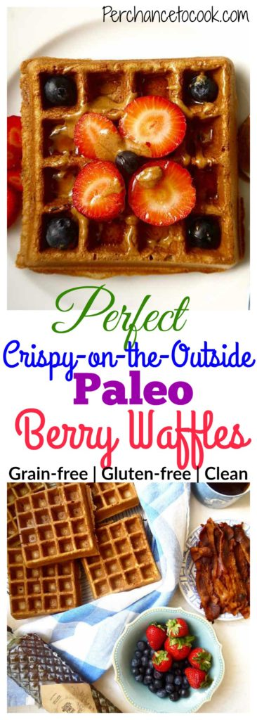 Perfect Crispy-on-the-Outside Paleo Berry Waffles | Perchance to Cook, www.perchancetocook.com