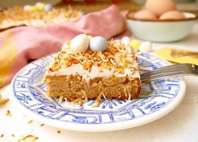 Toasted Coconut Cream Cake (Paleo, GF) | Perchance to Cook, www.perchancetocook.com