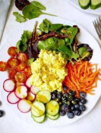 Fresh Garden Egg Salad with Turmeric Dijon Dressing {Paleo, Whole30} | Perchance to Cook, www.perchancetocook.com