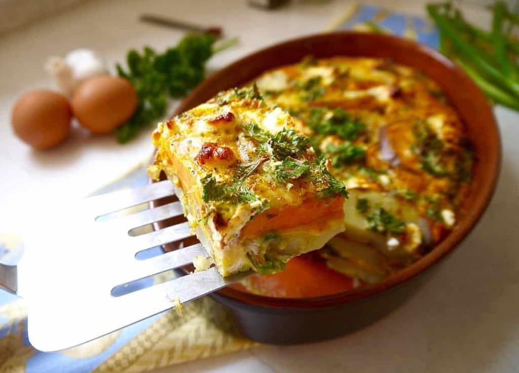 Paleo Baked Spanish Tortilla (GF) | Perchance to Cook, www.perchancetocook.com
