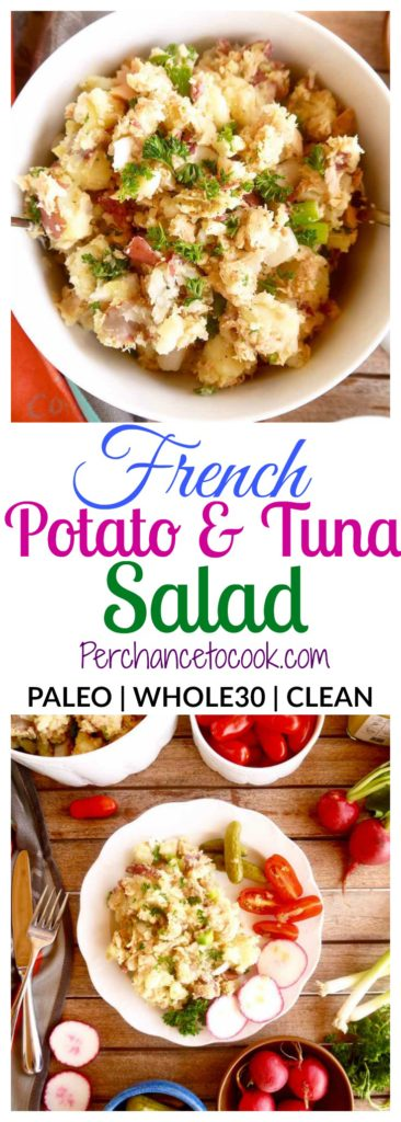 French Potato and Tuna Salad { Paleo, Whole30} | Perchance to Cook, www.perchancetocook.com