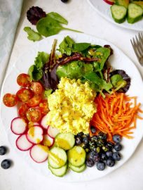 Fresh Garden Egg Salad with Turmeric Dijon Dressing {Paleo, Whole30}   Perchance to Cook, www.perchancetocook.com