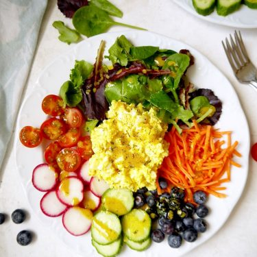 Fresh Garden Egg Salad with Turmeric Dijon Dressing {Paleo, Whole30} | Perchance to Cook, www.perchancetocook.com