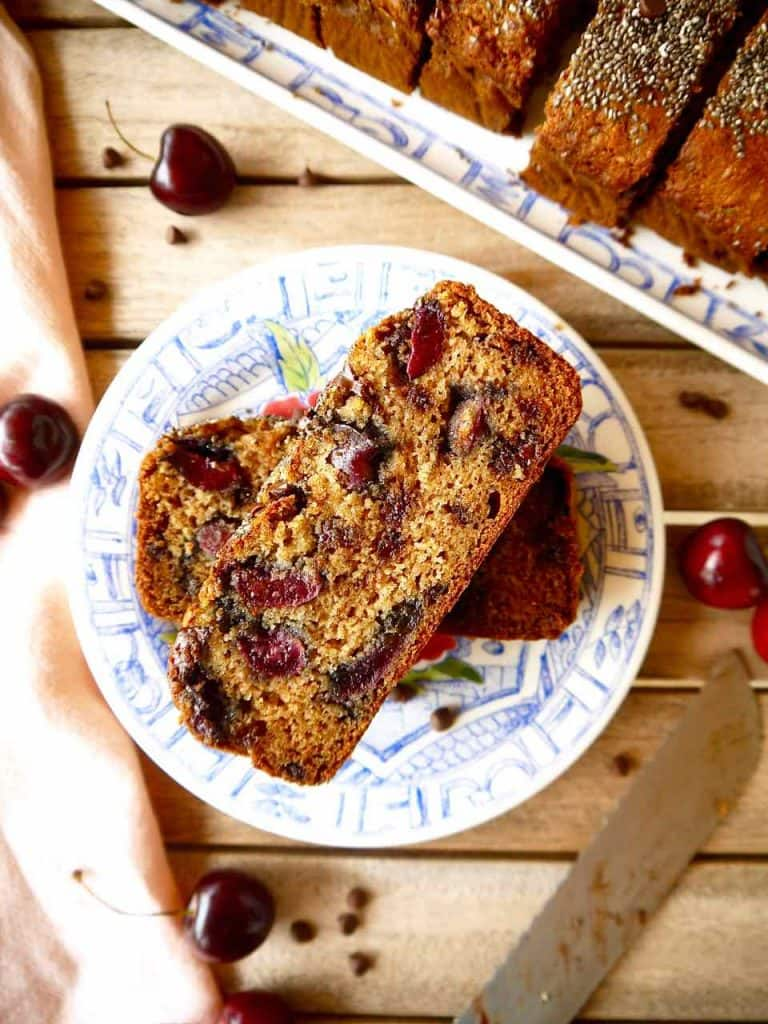 Cherry and Chocolate Chip Banana Bread | Perchance to Cook
