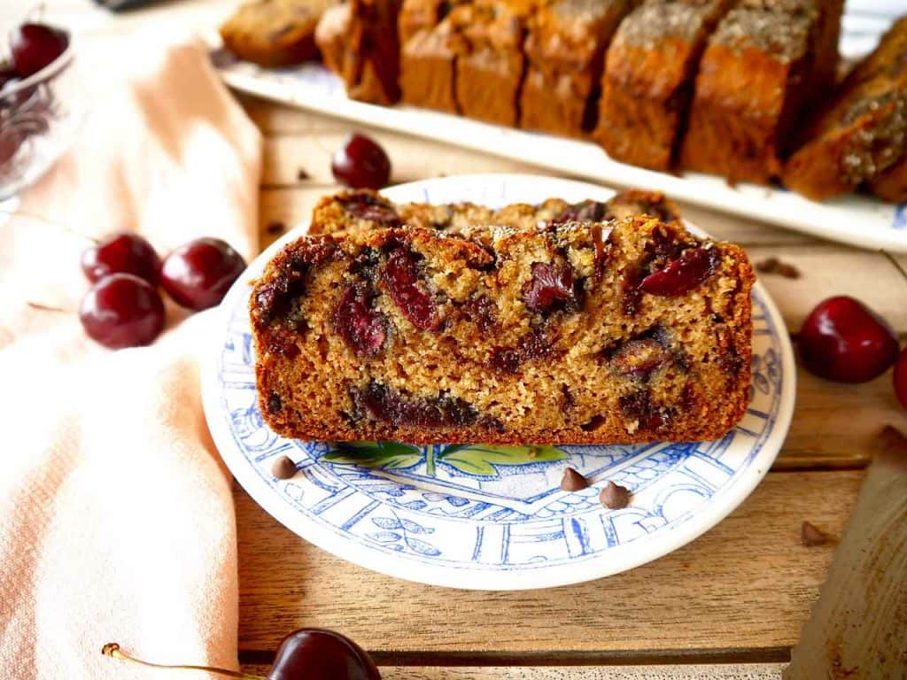 Cherry and Chocolate Chip Banana Bread {Paleo, GF} | Perchance to Cook, www.perchancetocook.com