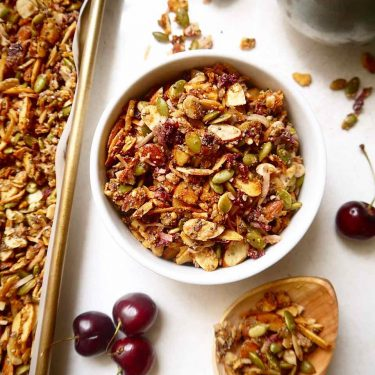 Fresh Cherry Grain-free Granola {Paleo, GF} | Perchance to Cook, www.perchancetocook.com