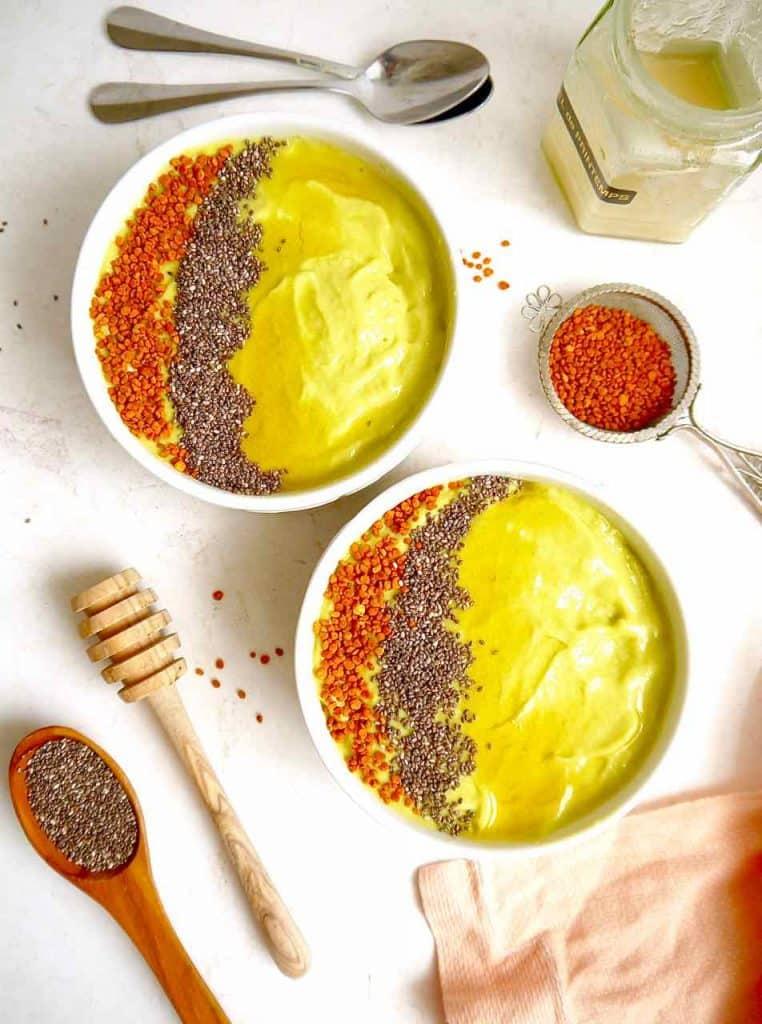 Honey Avocado Mango Smoothie Bowls (Paleo)   Perchance to Cook, www.perchancetocook.com
