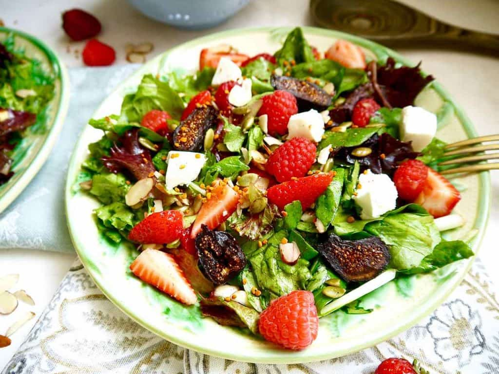 Berry and Fig Salad with Vanilla Vinaigrette (GF, Paleo option)   Perchance to Cook, www.perchancetocook.com