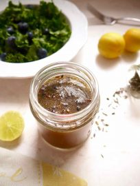 Key Lime Mustard Balsamic Dressing {Paleo, GF} | Perchance to Cook, www.perchancetocook.com