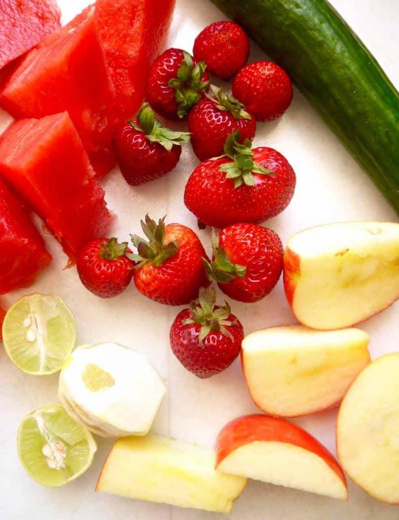 Refreshing Cucumber Watermelon Juice {Paleo, Vegan}   Perchance to Cook, www.perchancetocook.com