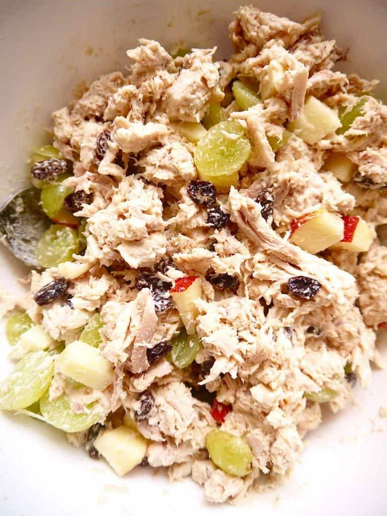 Rotisserie Chicken Salad Wraps With Apples Raisins And