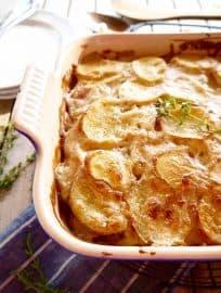 Whole30 Dairy-free Potato Gratin { Paleo, GF } | Perchance to Cook, www.perchancetocook.com