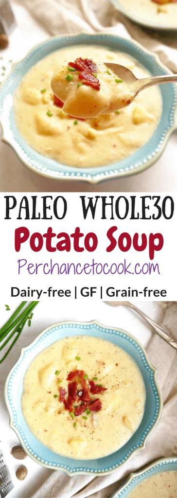 Paleo Whole30 Potato Soup   Perchance to Cook, www.perchancetocook.com
