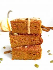 Pumpkin Carrot Cake with Almond Maple Drizzle {Paleo, GF}