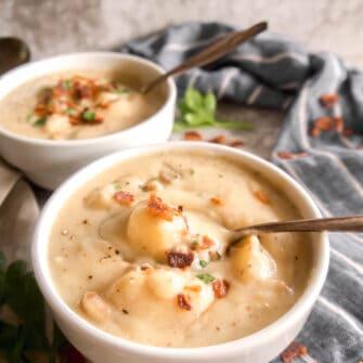 Paleo Whole30 Potato Soup | Perchance to Cook, www.perchancetocook.com