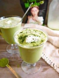 Frozen Dairy-free Matcha Latte (Paleo) | Perchance to Cook, www.perchancetocook.com