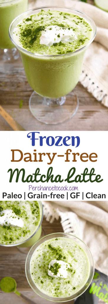 Frozen Dairy-free Matcha Latte (Paleo)   Perchance to Cook, www.perchancetocook.com