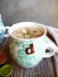 Dairy-free Matcha Hot Chocolate (Paleo) | Perchance to Cook, www.perchancetocook.com