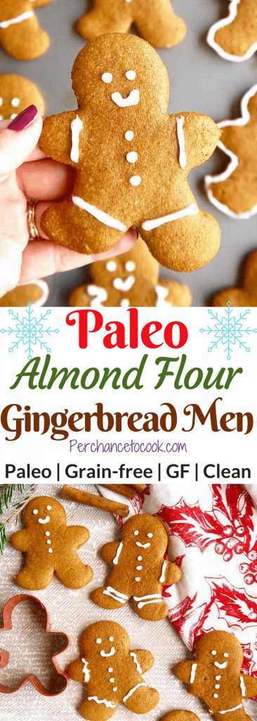 Paleo Almond Flour Gingerbread Men Cookies Gf