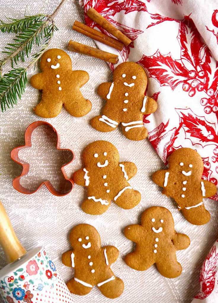 Paleo Almond Flour Gingerbread Men Cookies Gf Perchance To Cook