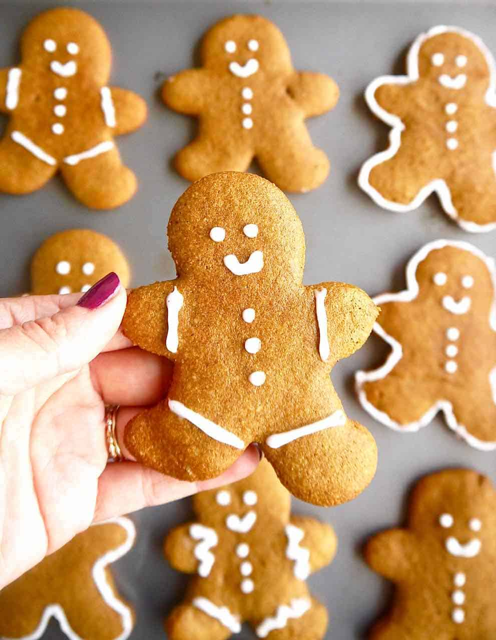 Paleo Almond Flour Gingerbread Men Cookies Gf