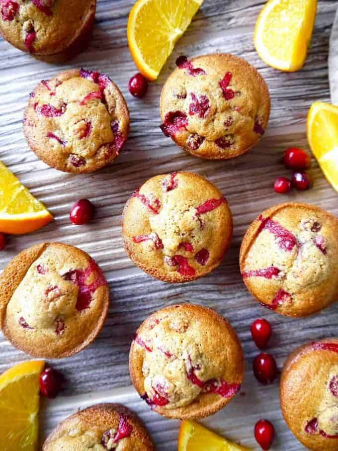 Paleo Orange Cranberry Muffins ( GF, Grain-free )