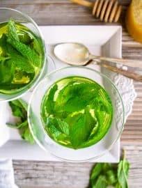 Easy Fresh Mint Tea (Paleo, GF) | Perchance to Cook, www.perchancetocook.com