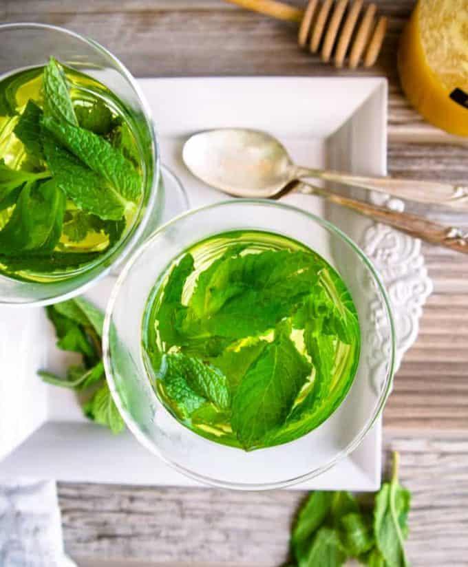 Easy Fresh Mint Tea (Paleo, GF)   Perchance to Cook, www.perchancetocook.com