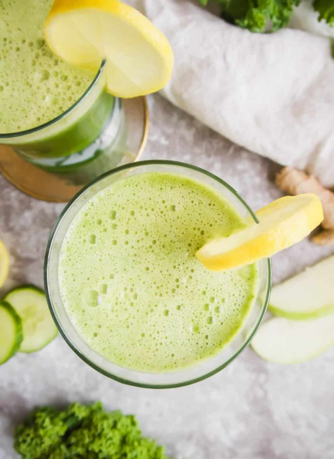 Fresh Green Apple, Cucumber, Kale, Ginger Juice (Paleo, GF) | Perchance to Cook, www.perchancetocook.com