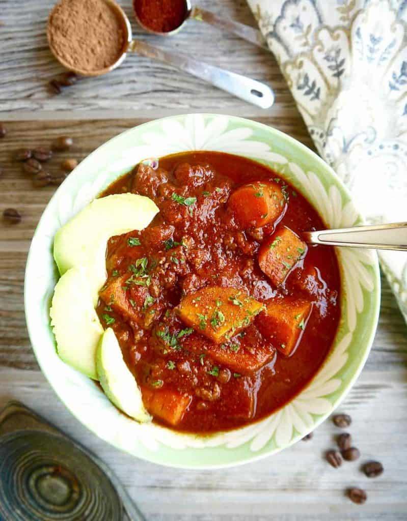 Smokey Coffee and Cocoa Chili (Paleo, Whole30 option)   Perchance to Cook, www.perchancetocook.com