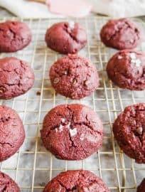 Paleo Red Velvet Cookies (GF)   Perchance to Cook, www.perchancetocook.com